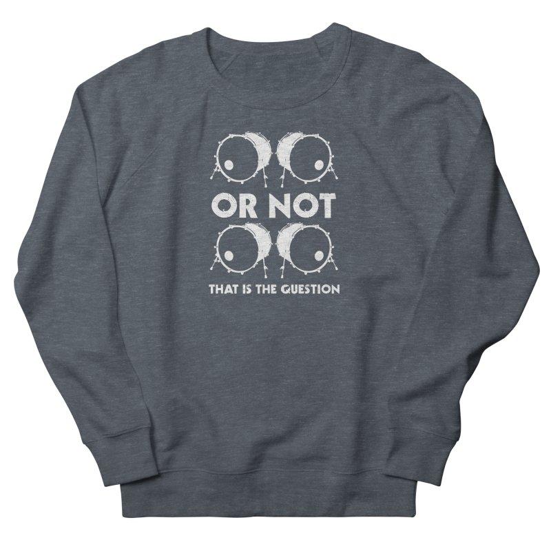 2 Kicks Or Not 2 Kicks (White) Men's French Terry Sweatshirt by Drum Geek Online Shop