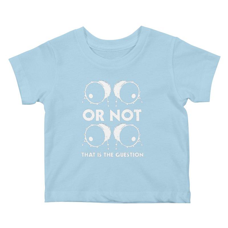 2 Kicks Or Not 2 Kicks (White) Kids Baby T-Shirt by Drum Geek Online Shop