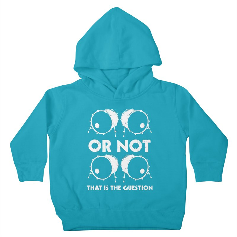 2 Kicks Or Not 2 Kicks (White) Kids Toddler Pullover Hoody by Drum Geek Online Shop