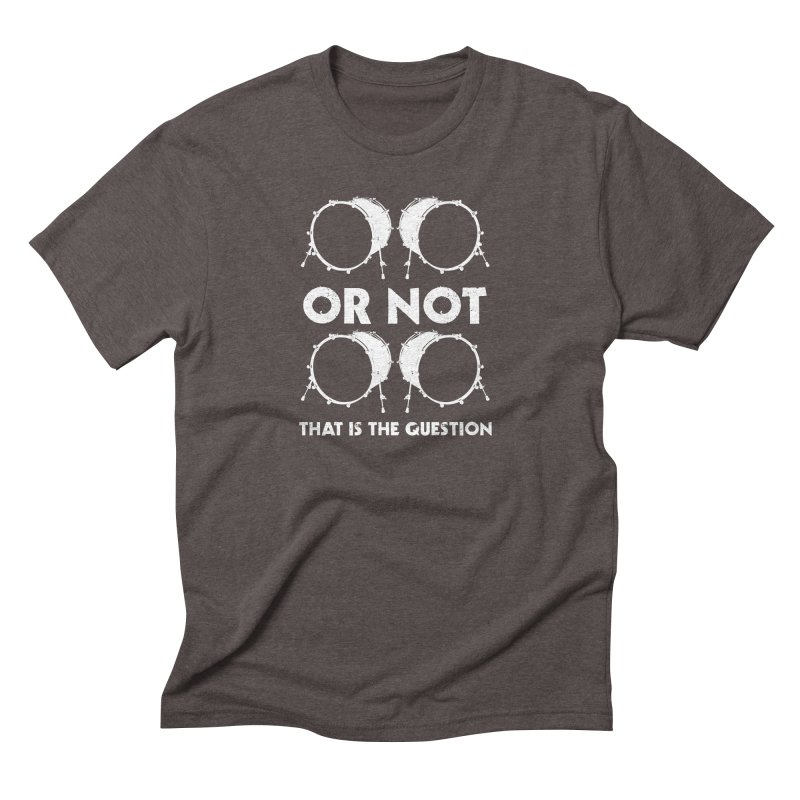 2 Kicks Or Not 2 Kicks - White Logo Men's T-Shirt by Drum Geek Online Shop