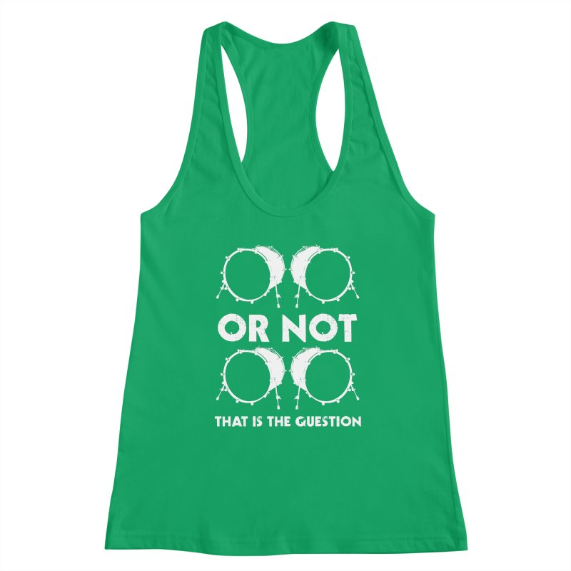 2 Kicks Or Not 2 Kicks - White Logo Women's Tank by Drum Geek Online Shop