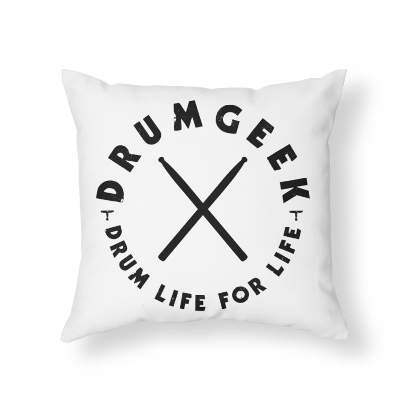 Drum Geel DLFL Logo 3 (Black) Home Throw Pillow by Drum Geek Online Shop