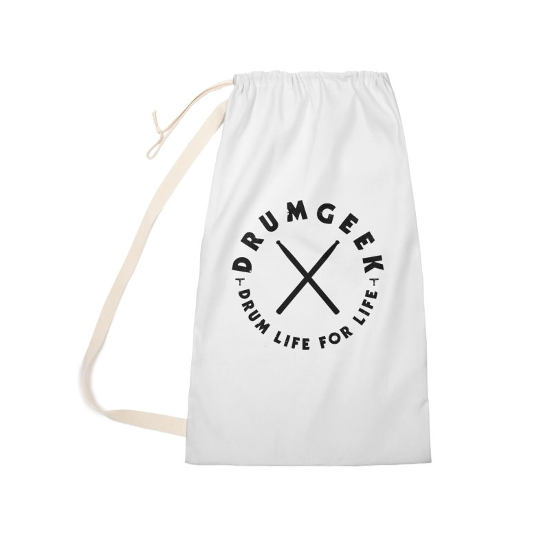 Drum Life For Life (Style 3) - Black Logo Accessories Laundry Bag Bag by Drum Geek Online Shop