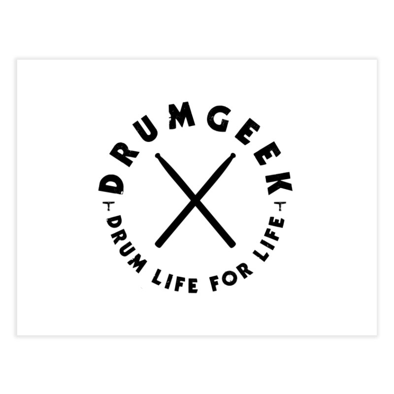 Drum Geel DLFL Logo 3 (Black) Home Fine Art Print by Drum Geek Online Shop