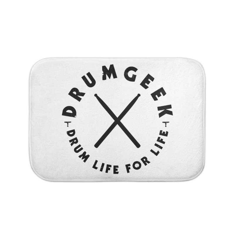 Drum Geel DLFL Logo 3 (Black) Home Bath Mat by Drum Geek Online Shop