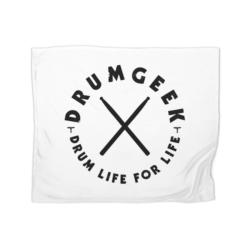 Drum Geel DLFL Logo 3 (Black) Home Fleece Blanket Blanket by Drum Geek Online Shop