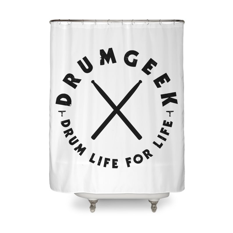 Drum Geel DLFL Logo 3 (Black) Home Shower Curtain by Drum Geek Online Shop