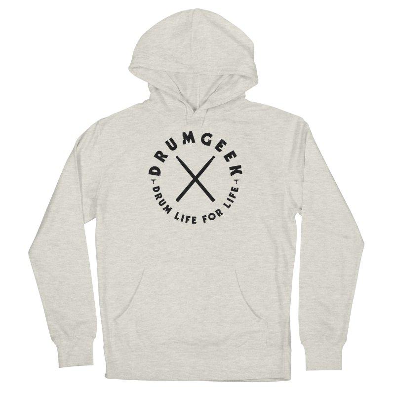 Drum Geel DLFL Logo 3 (Black) Men's Pullover Hoody by Drum Geek Online Shop