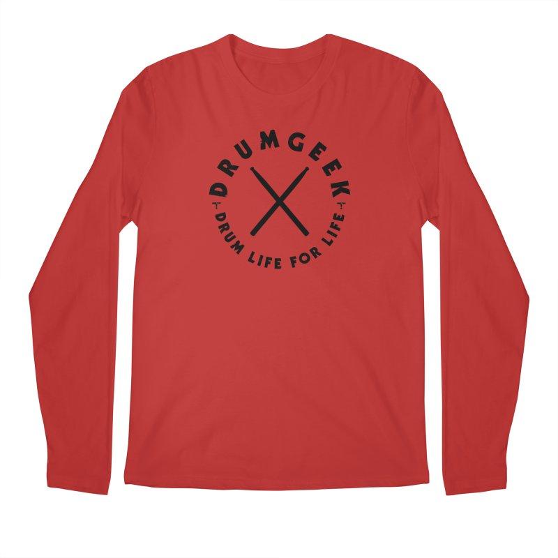 Drum Geel DLFL Logo 3 (Black) Men's Longsleeve T-Shirt by Drum Geek Online Shop