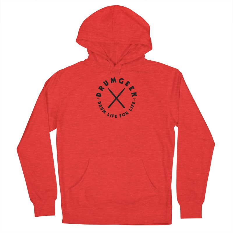 Drum Life For Life (Style 3) - Black Logo Men's Pullover Hoody by Drum Geek Online Shop