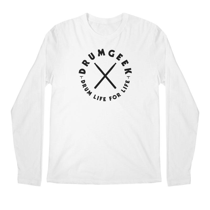 Drum Geel DLFL Logo 3 (Black) Men's Regular Longsleeve T-Shirt by Drum Geek Online Shop
