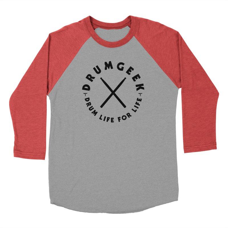 Drum Geel DLFL Logo 3 (Black) Women's Baseball Triblend Longsleeve T-Shirt by Drum Geek Online Shop