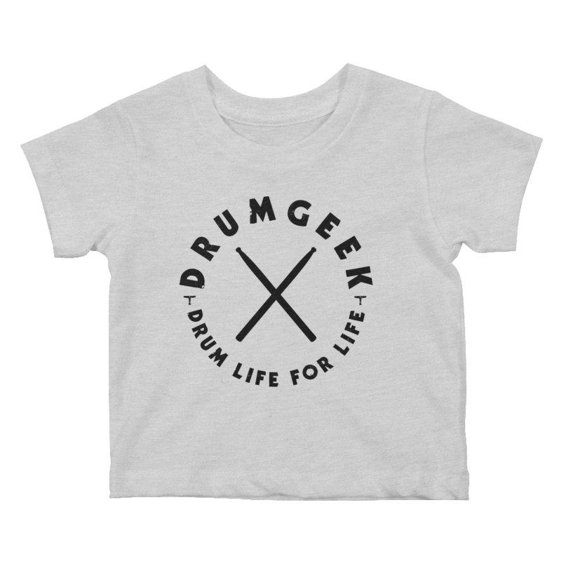 Drum Geel DLFL Logo 3 (Black) Kids Baby T-Shirt by Drum Geek Online Shop
