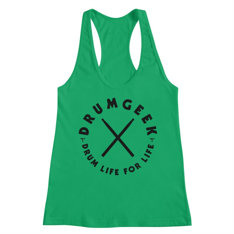 Drum Life For Life (Style 3) - Black Logo Women's Tank by Drum Geek Online Shop