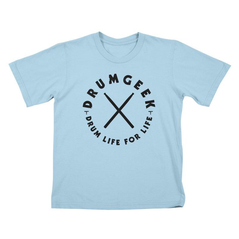 Drum Geel DLFL Logo 3 (Black) Kids T-Shirt by Drum Geek Online Shop