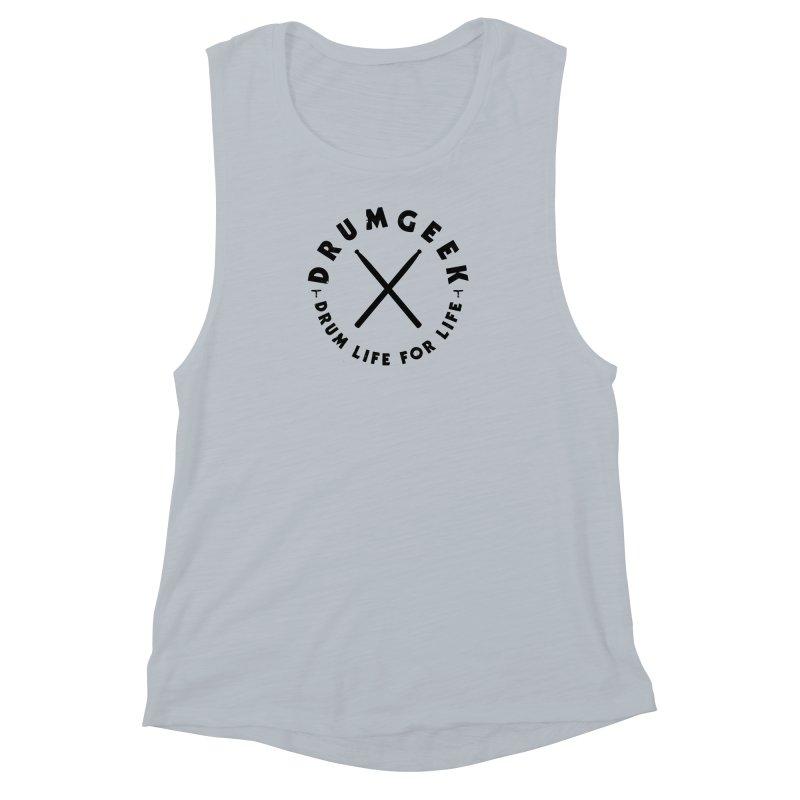 Drum Geel DLFL Logo 3 (Black) Women's Muscle Tank by Drum Geek Online Shop