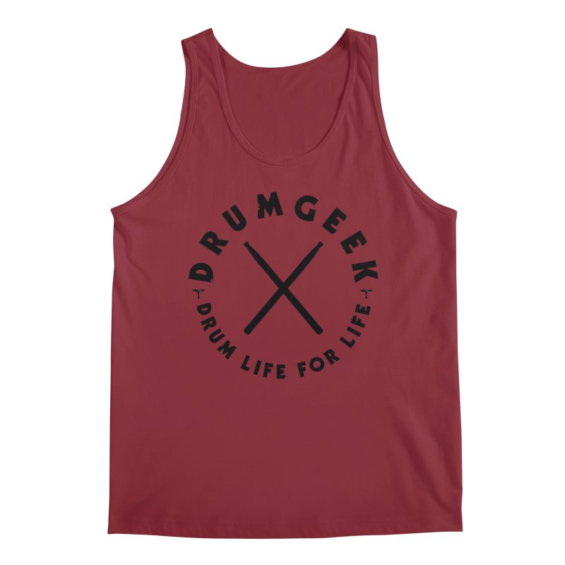 Drum Life For Life (Style 3) - Black Logo Men's Tank by Drum Geek Online Shop