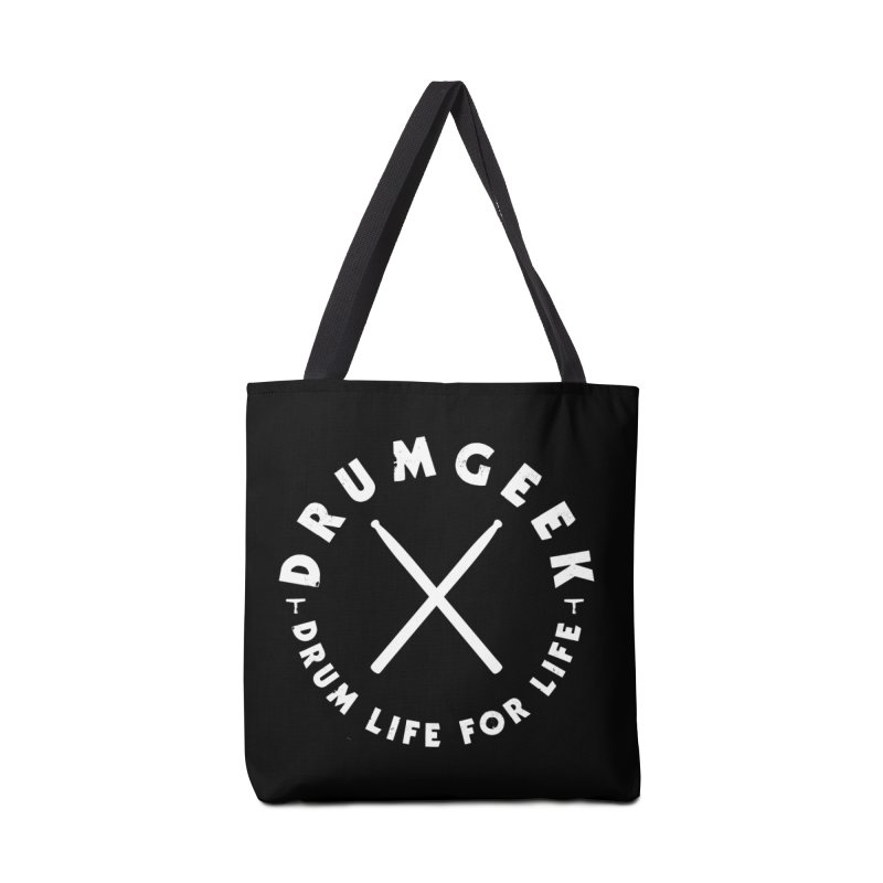Drum Life For Life (Style 3) - White Logo Accessories Tote Bag Bag by Drum Geek Online Shop