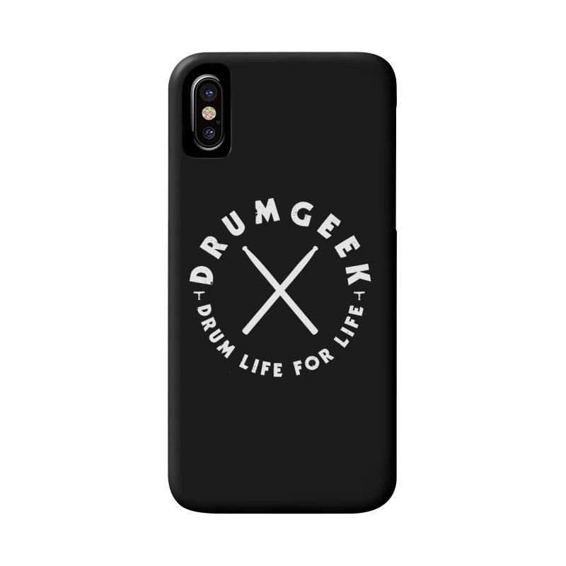 Drum Geek DLFL Logo 3 (White) Accessories Phone Case by Drum Geek Online Shop