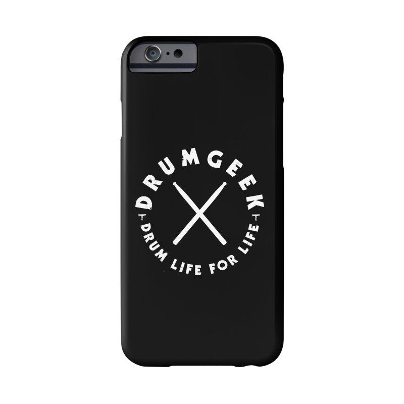 Drum Geek DLFL Logo 3 (White) Accessories Phone Case by Drum Geek Online Shop