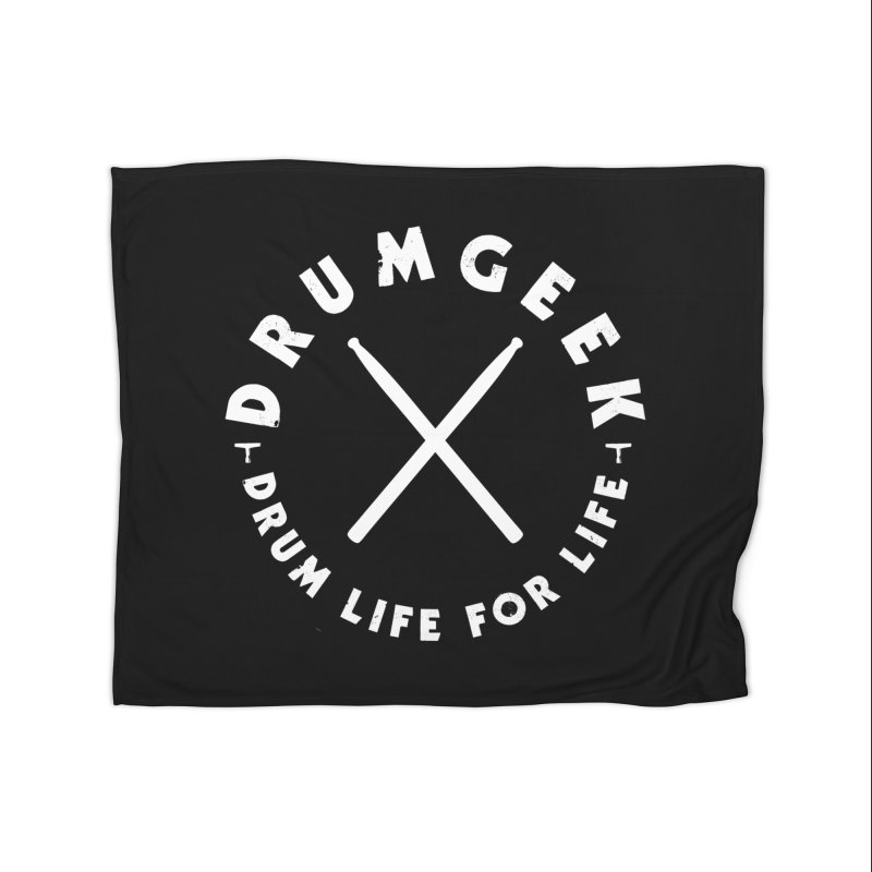 Drum Geek DLFL Logo 3 (White) Home Blanket by Drum Geek Online Shop