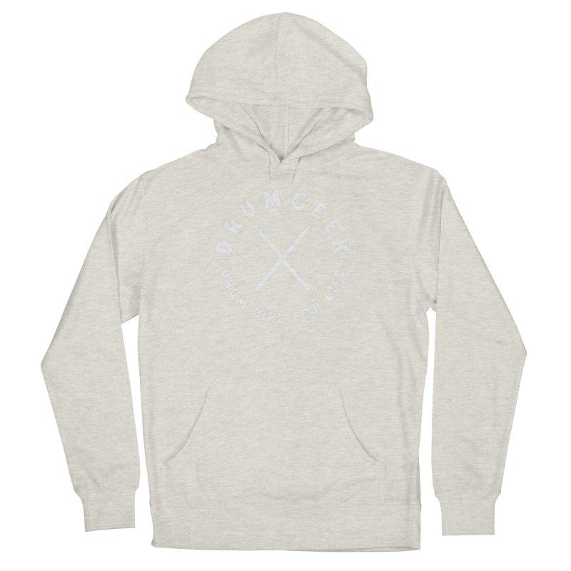 Drum Geek DLFL Logo 3 (White) Men's Pullover Hoody by Drum Geek Online Shop