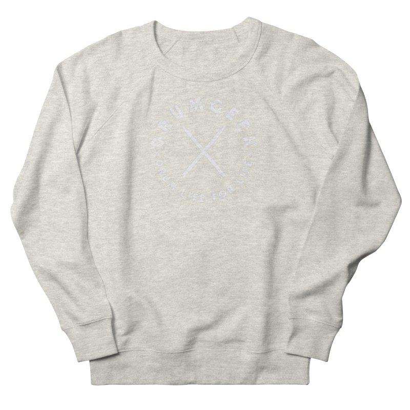 Drum Geek DLFL Logo 3 (White) Men's French Terry Sweatshirt by Drum Geek Online Shop