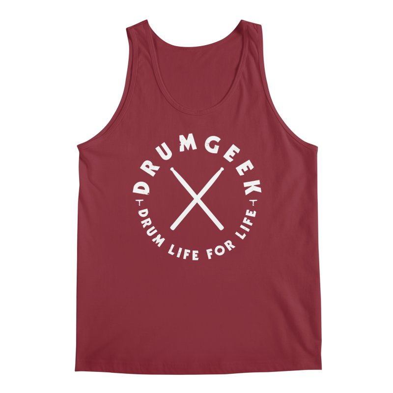 Drum Life For Life (Style 3) - White Logo Men's Tank by Drum Geek Online Shop
