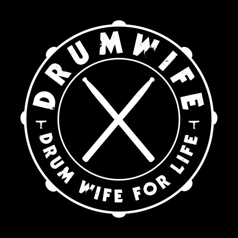 Drum Wife - White Logo Men's Zip-Up Hoody by Drum Geek Online Shop
