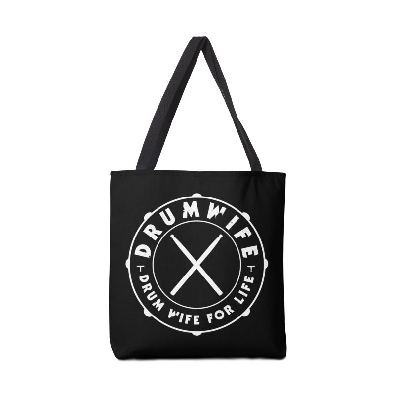 Drum Wife - White Logo Accessories Tote Bag Bag by Drum Geek Online Shop