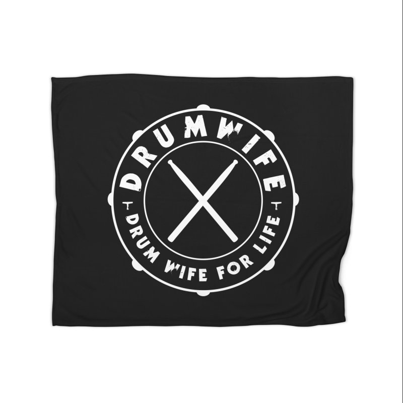 Drum Wife (White) Home Fleece Blanket Blanket by Drum Geek Online Shop