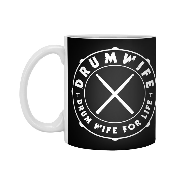 Drum Wife - White Logo Accessories Standard Mug by Drum Geek Online Shop
