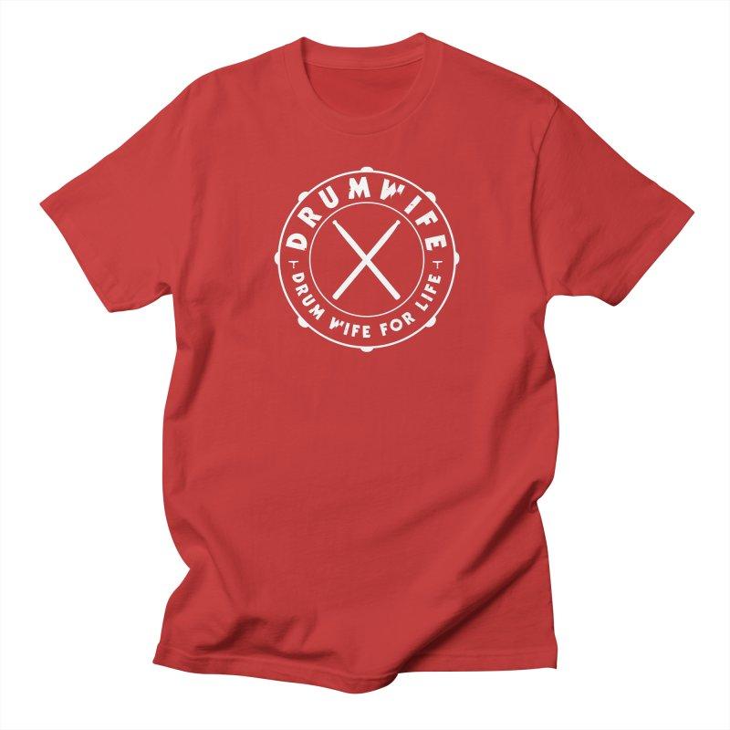 Drum Wife (White) Men's T-Shirt by Drum Geek Online Shop