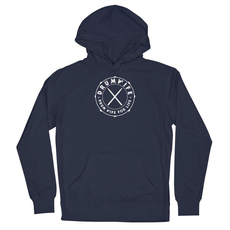 Drum Wife - White Logo Men's Pullover Hoody by Drum Geek Online Shop