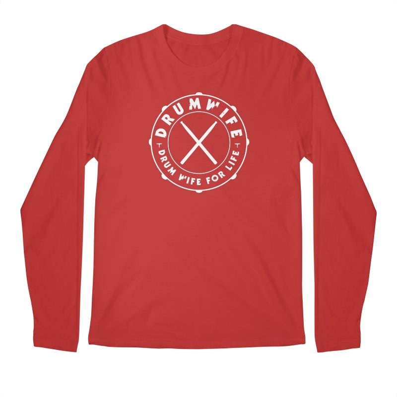 Drum Wife - White Logo Men's Longsleeve T-Shirt by Drum Geek Online Shop