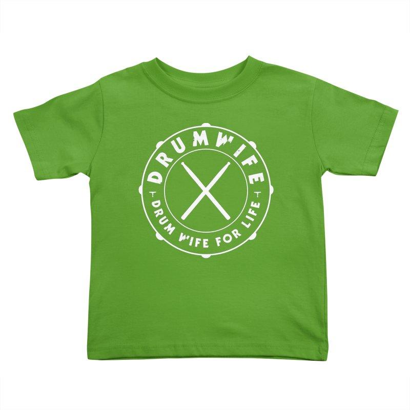 Drum Wife (White) Kids Toddler T-Shirt by Drum Geek Online Shop
