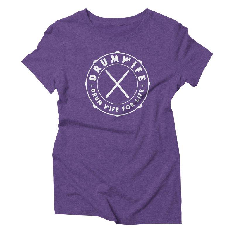 Drum Wife (White) Women's Triblend T-Shirt by Drum Geek Online Shop