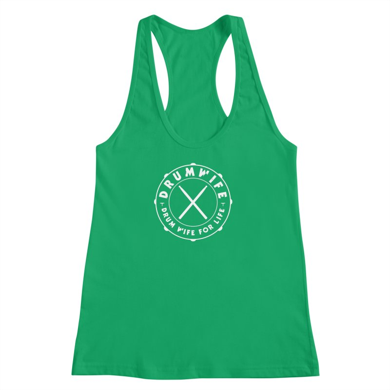 Drum Wife (White) Women's Racerback Tank by Drum Geek Online Shop