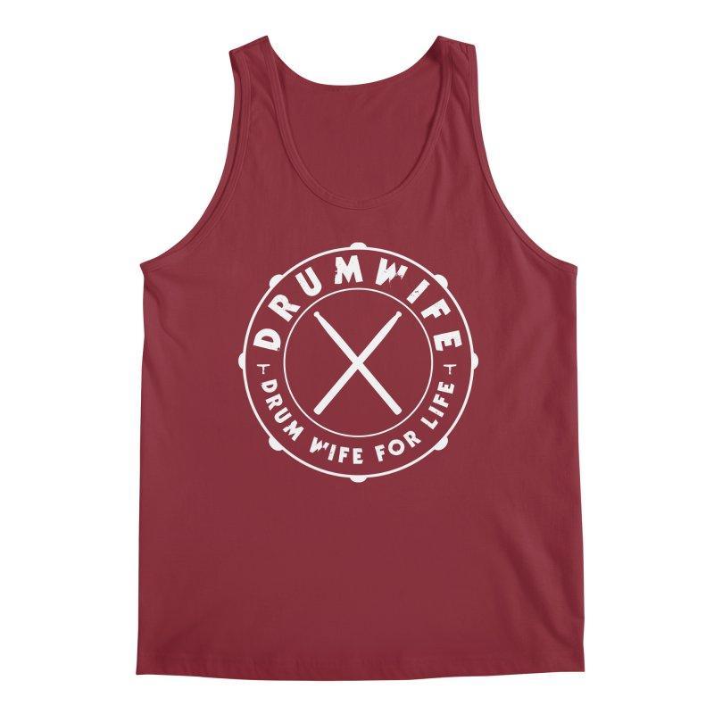 Drum Wife - White Logo Men's Tank by Drum Geek Online Shop