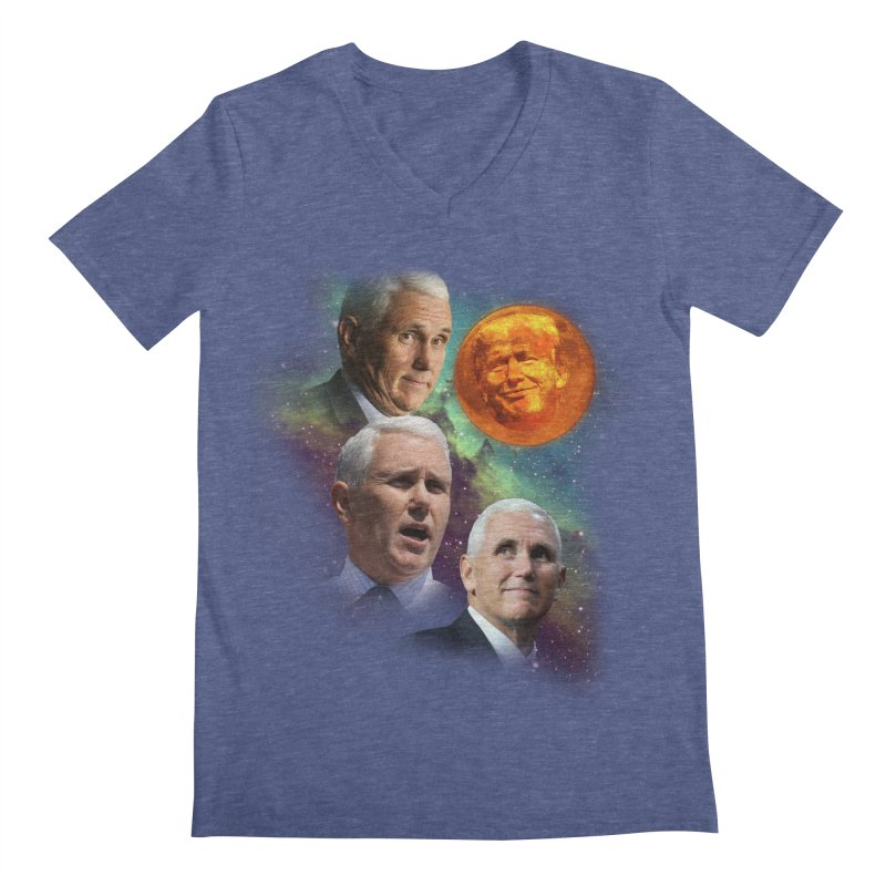 Three Pence Moon Men's Regular V-Neck by Content Pending - Things & Notables