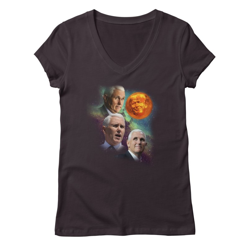Three Pence Moon Women's V-Neck by Content Pending - DrunkCast Live! Store