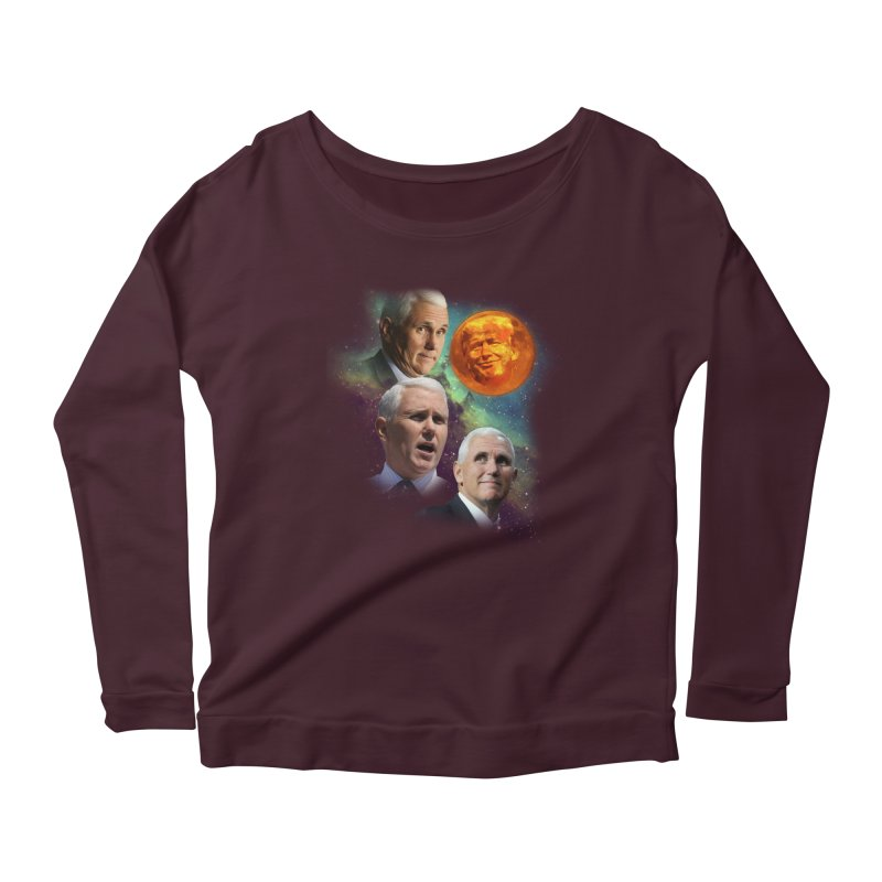 Three Pence Moon Women's Longsleeve Scoopneck  by Content Pending - Things & Notables