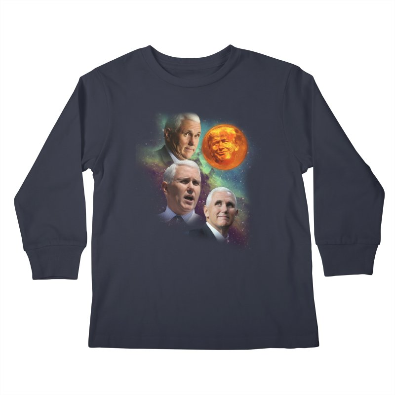 Three Pence Moon Kids Longsleeve T-Shirt by Content Pending - DrunkCast Live! Store