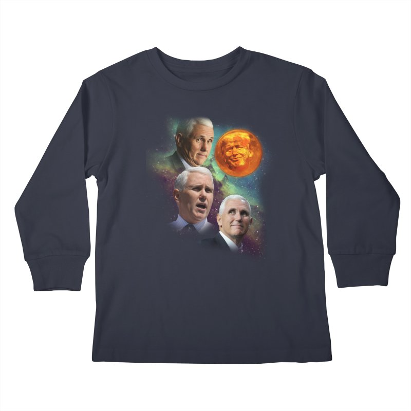 Three Pence Moon Kids Longsleeve T-Shirt by Content Pending - Things & Notables