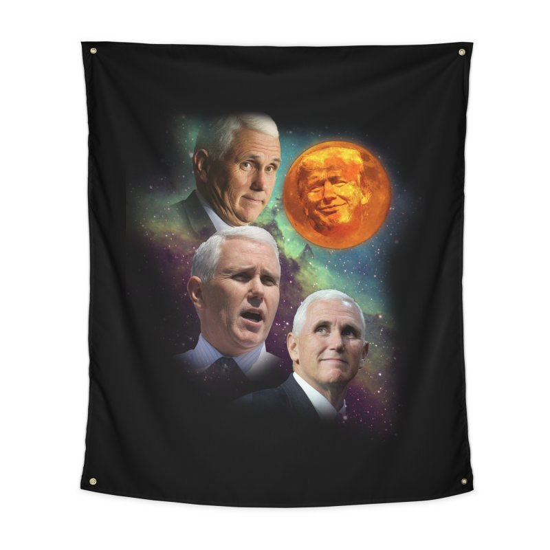 Three Pence Moon Home Tapestry by Content Pending - DrunkCast Live! Store