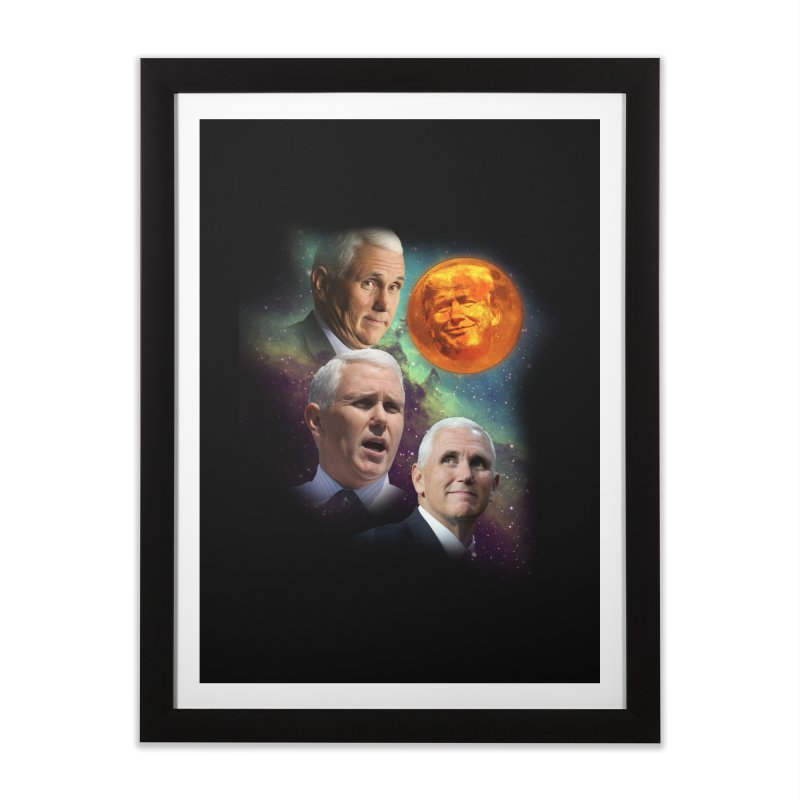 Three Pence Moon Home Framed Fine Art Print by Content Pending - DrunkCast Live! Store