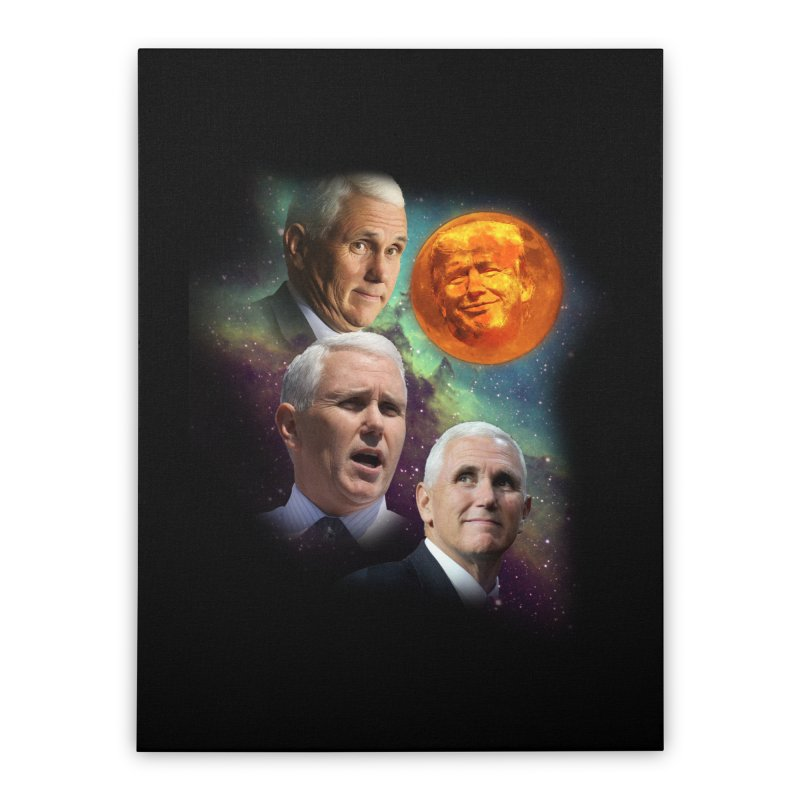 Three Pence Moon Home Stretched Canvas by Content Pending - DrunkCast Live! Store