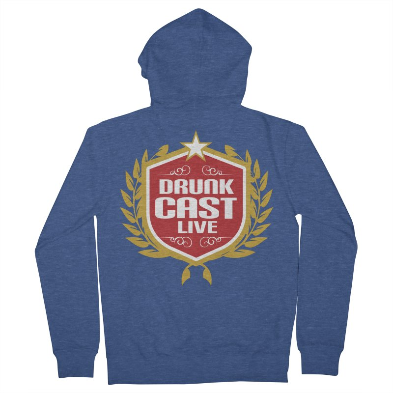 DrunkCast: Live! Logo Men's Zip-Up Hoody by Content Pending - Things & Notables