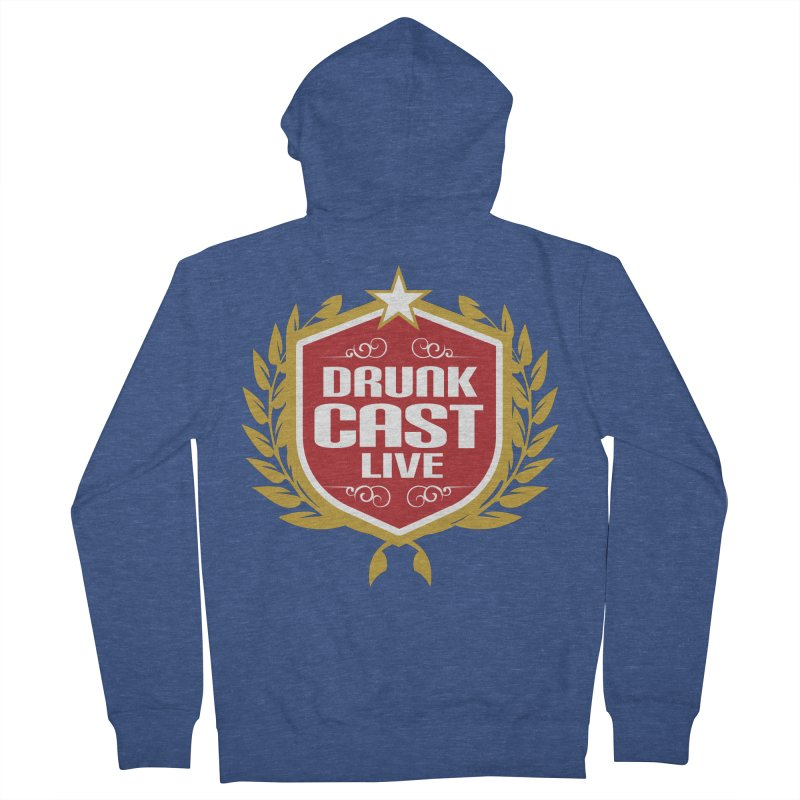 DrunkCast: Live! Logo Men's Zip-Up Hoody by Content Pending - DrunkCast Live! Store