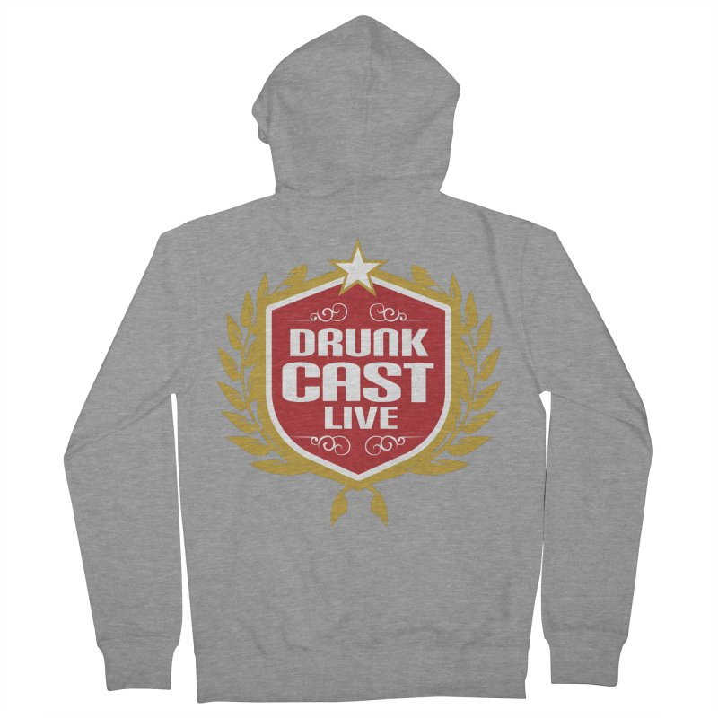 DrunkCast: Live! Logo Men's French Terry Zip-Up Hoody by Content Pending - Things & Notables